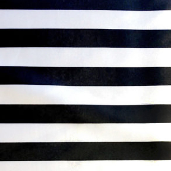 Black and White SATIN Stripe Tablecloth Round 120in