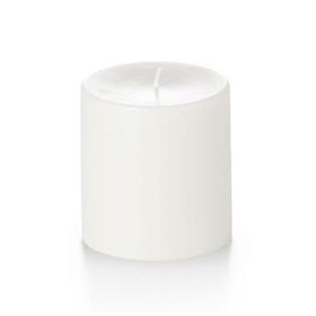 Unscented White Pillar Candles 4in x 4in