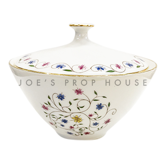 Lidia Floral Porcelain Sugar Bowl with Lid