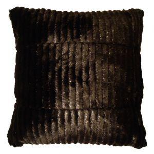 Black Faux Fur Pillow