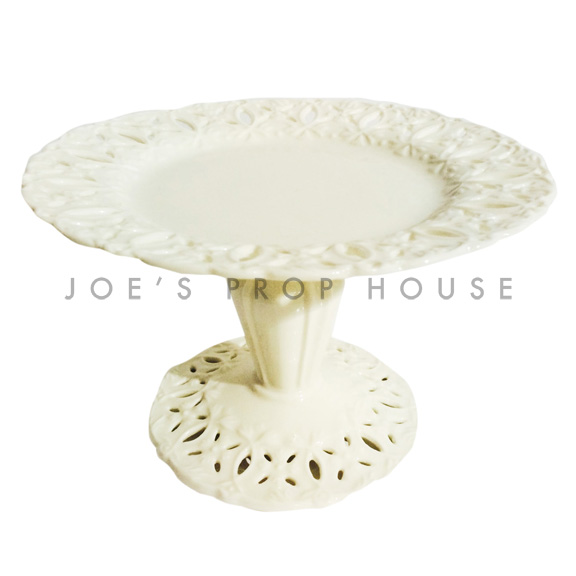 Anabelle Round Porcelain Cake Stand Ivory D5in