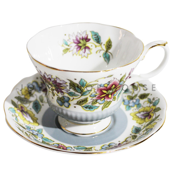 Grace Floral Teacup and Saucer
