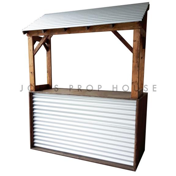 Corrugated Bar w/Corrugated Metal Awning L6ft