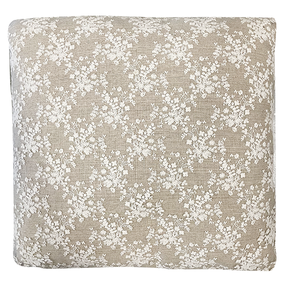 CD Lace Accent Pillow Ivory & Beige