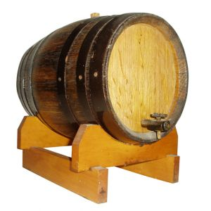 Small Wine Barrel on Stand