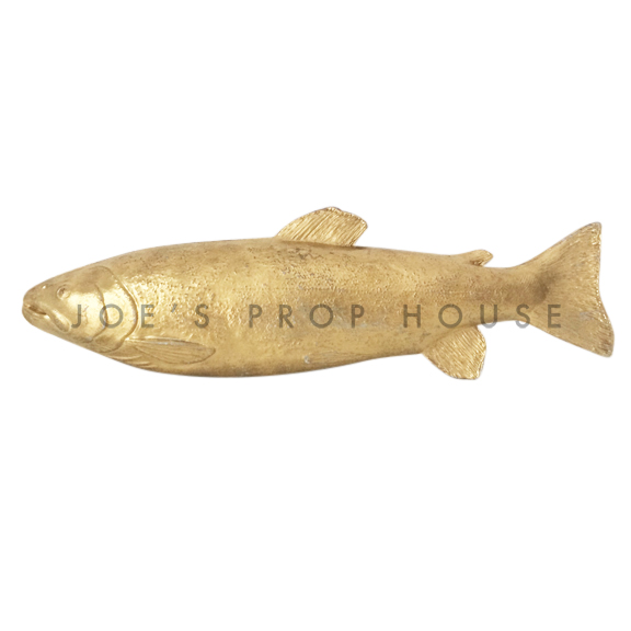 Gold Trout Fish L13in