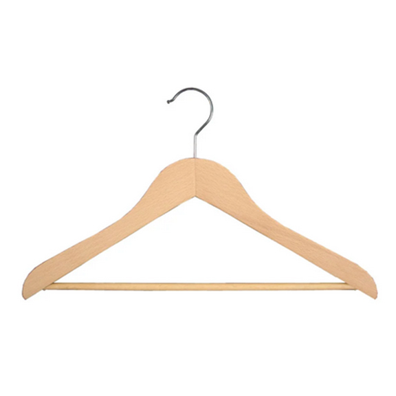 BUY ME / USED ITEM $12.00 Natural Wood Pant Hangers - 12 Pack