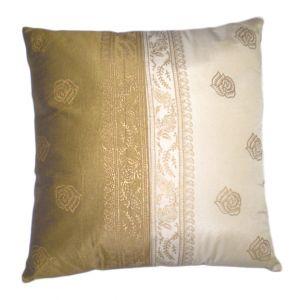 Square Pillow Gold/ Cream