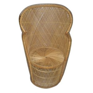 Demi Round Back Wicker Chair