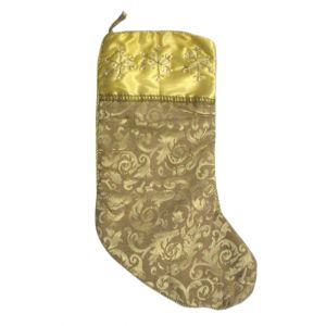 Gold Christmas Stocking