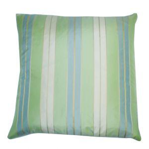 Striped Green/blue/white Pillow