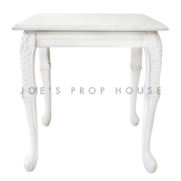 Square Baroque Top Cocktail Table White