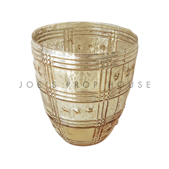 BUY ME / USED ITEM Estella Mercury Glass Vase SMALL Gold
