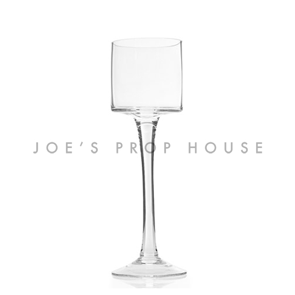 Monet Clear Glass Stem Candle Holder H11in x D3.5in SHORT