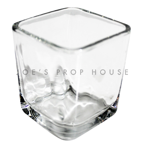 Large Square Clear Glass Votive Cups