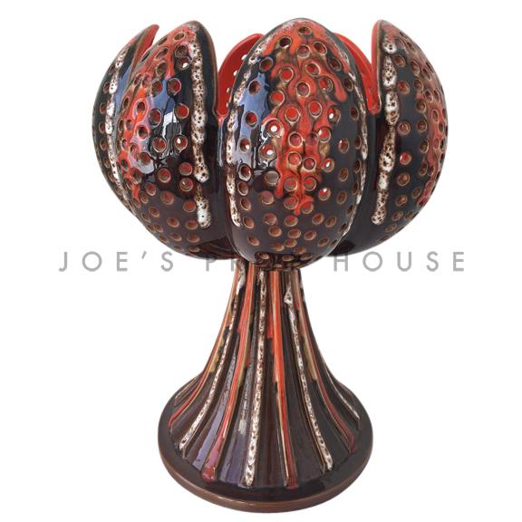 Split Petal Pottery Glaze Table Lamp