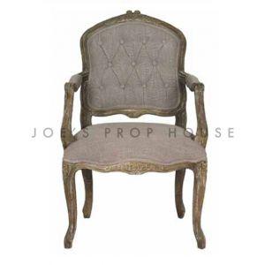 Shabby Louis XV Armchair Clay