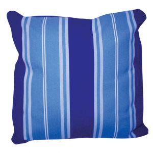 Two Tone Striped Pillow Blue