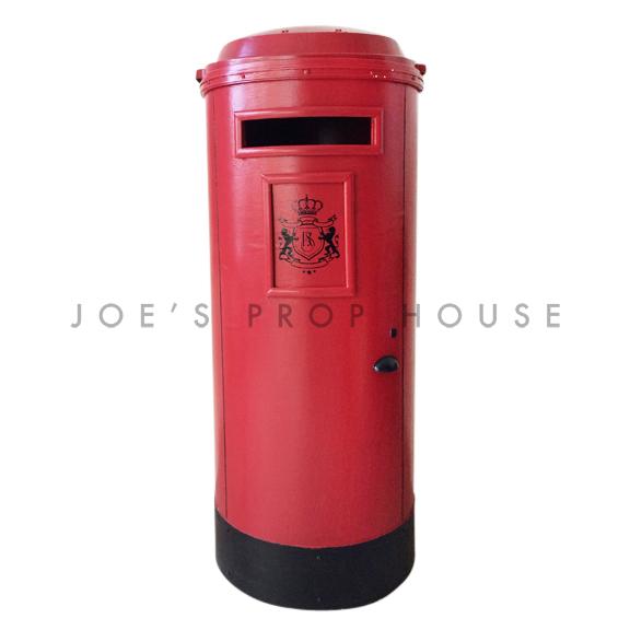 English Post Box Prop Red