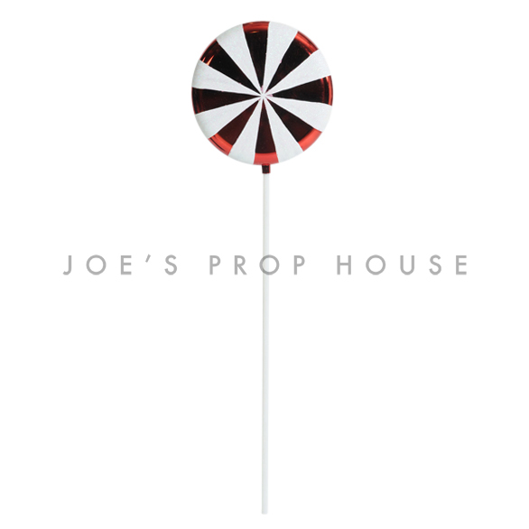 Giant Red and White Diamond Peppermint Lollipop H42in