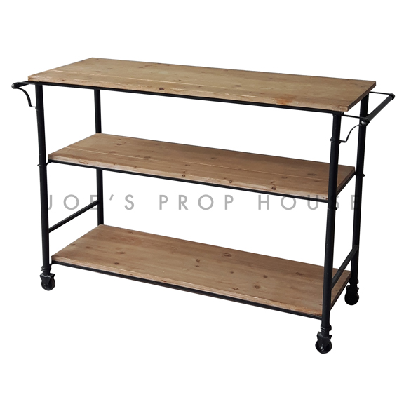 Reclaimed Rolling Barcart