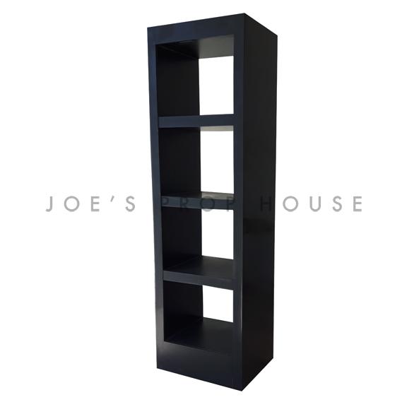 3 Shelf Single Tower Barback Black