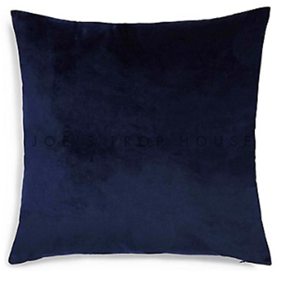 Navy Blue Velvet Accent Pillow