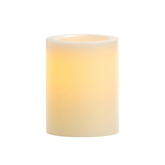 LED Ivory Pillar Candles H4in