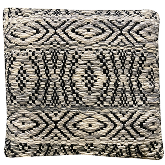 Belizar Wool Knit Accent Pillow Beige & Black