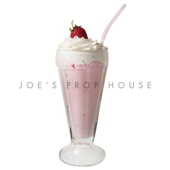 Strawberry Milkshake Drink Prop