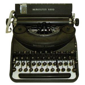 Remington Rand Manual Typewriter Black