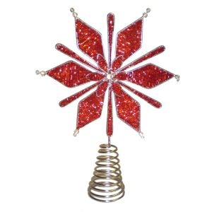 Red Snowflake Tree Topper