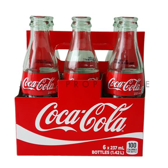 Vintage Coca-Cola Soda Bottles + Carry Case
