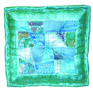 Amal Square Patchwork Pillow Turquoise