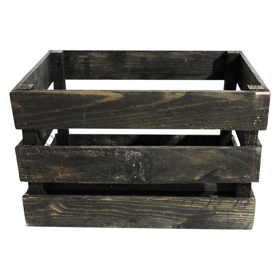 Wooden Crate Medium Dark Brown