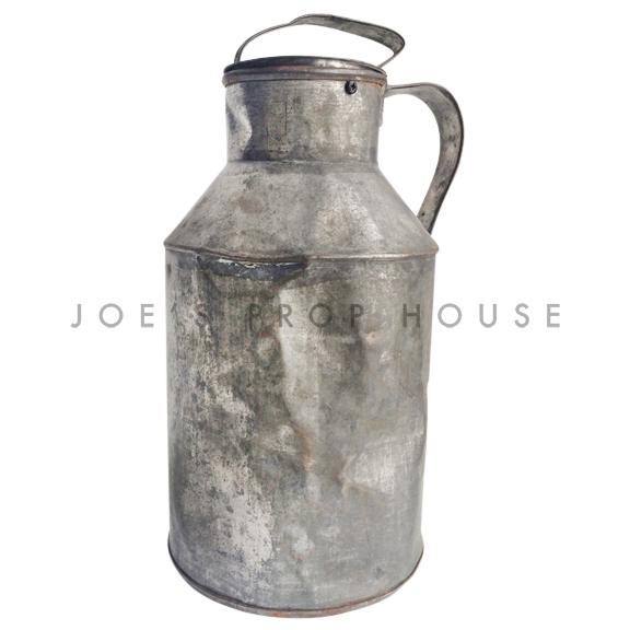 Vintage Galvanized Metal Milk Jug