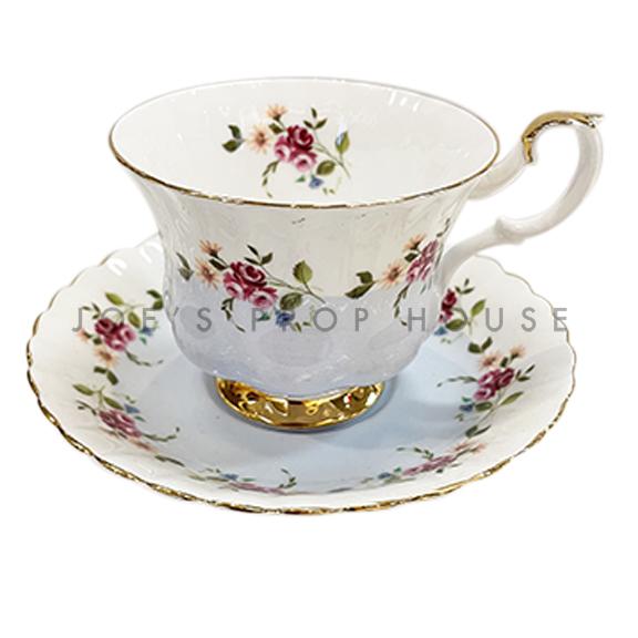 Mellie Floral Teacup and Saucer