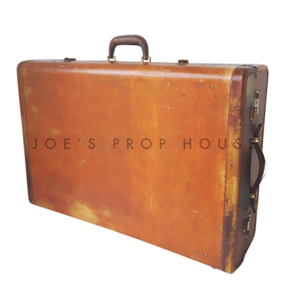Milton Hardshell Leather Wardrobe Suitcase