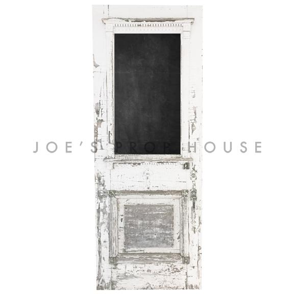 Llyod Distressed Self-Standing Door w/Chalkboard Insert