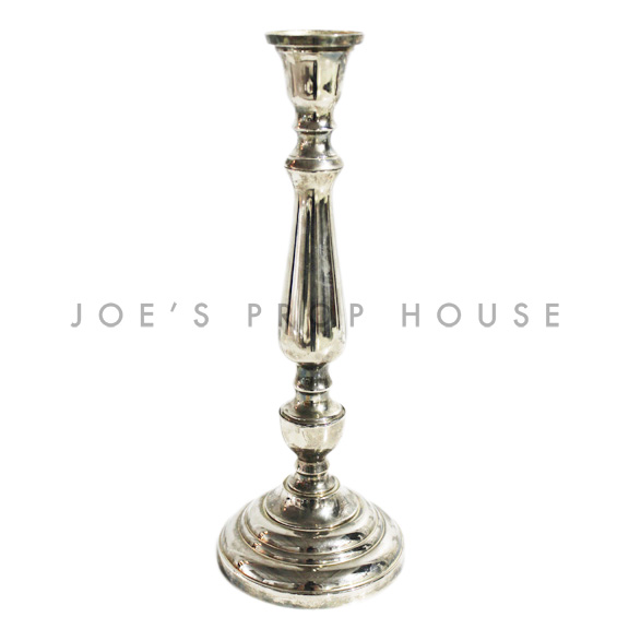 Agnes Tapered Candlestick Silver