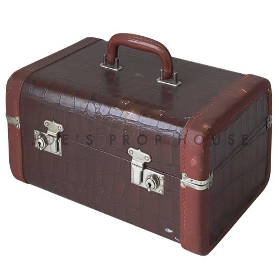 Scofield Croc Hardshell Vanity Luggage Brown