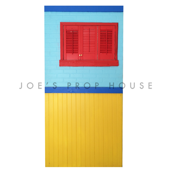 Self-Standing Rainbow Rowhouse Wall No.4 W4ft x H8ft