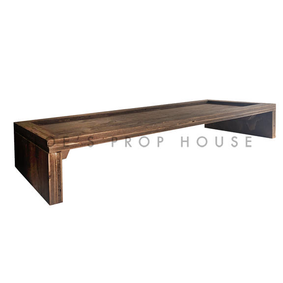 Elevated Rectangular Wood Serving Board Brown L32in x W12in x H5in