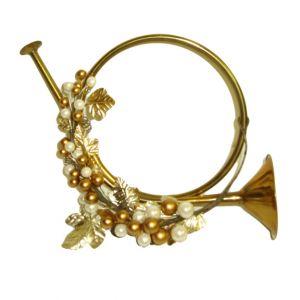 Gold Trumpet Ornament