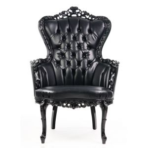 Baroque Tufted King Armchair Black