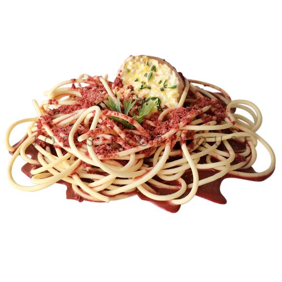 Meat Sauce Spaghetti w/Garlic Bread Food Prop