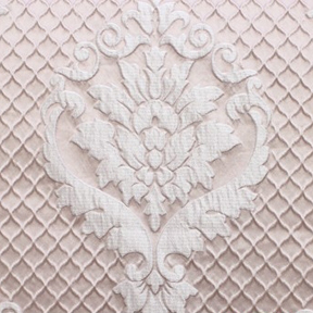 Blush DAMASK QUILT Tablecloth Round 120in