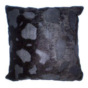 Faux Fur Pillow Black