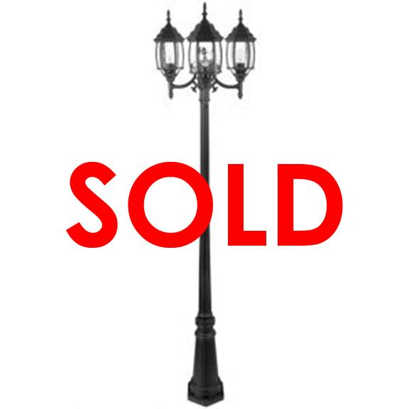 Outdoor Street Lamp Post Black
