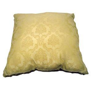 Square Cream Damask Pillow